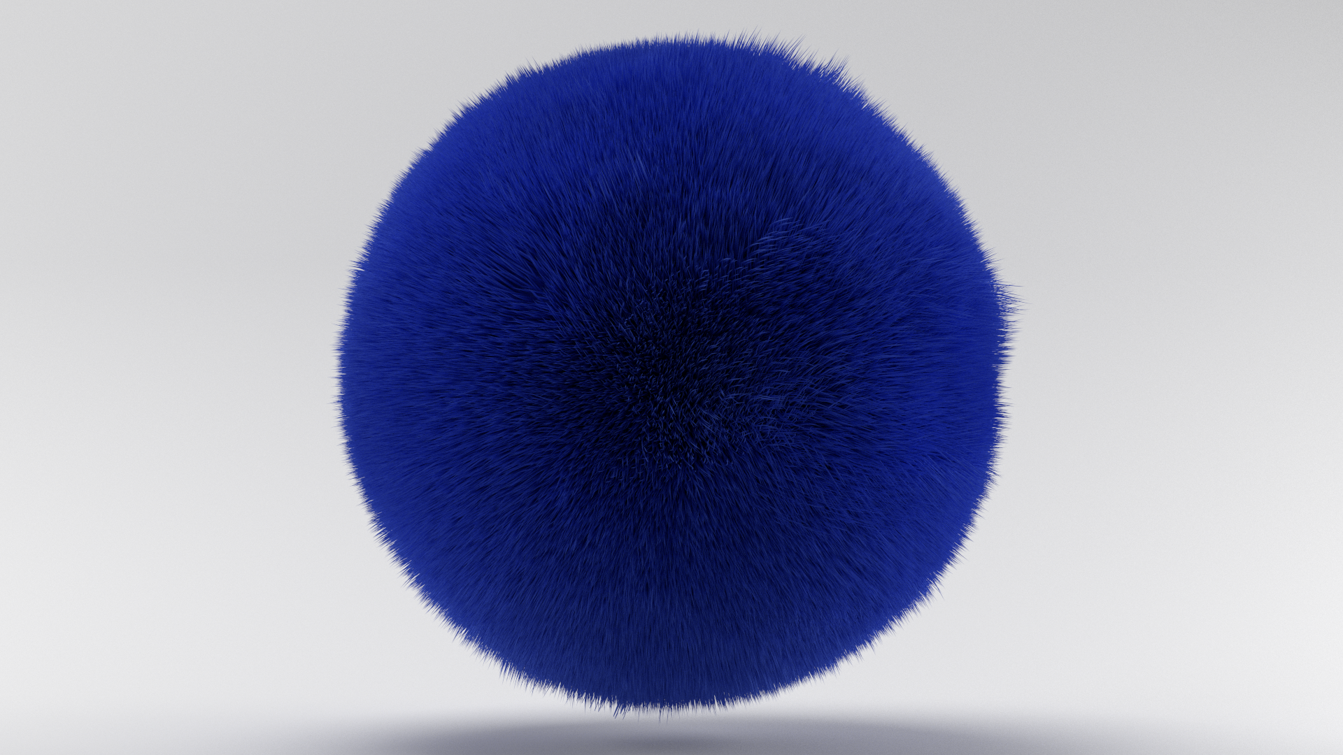 Furry Blue Ball