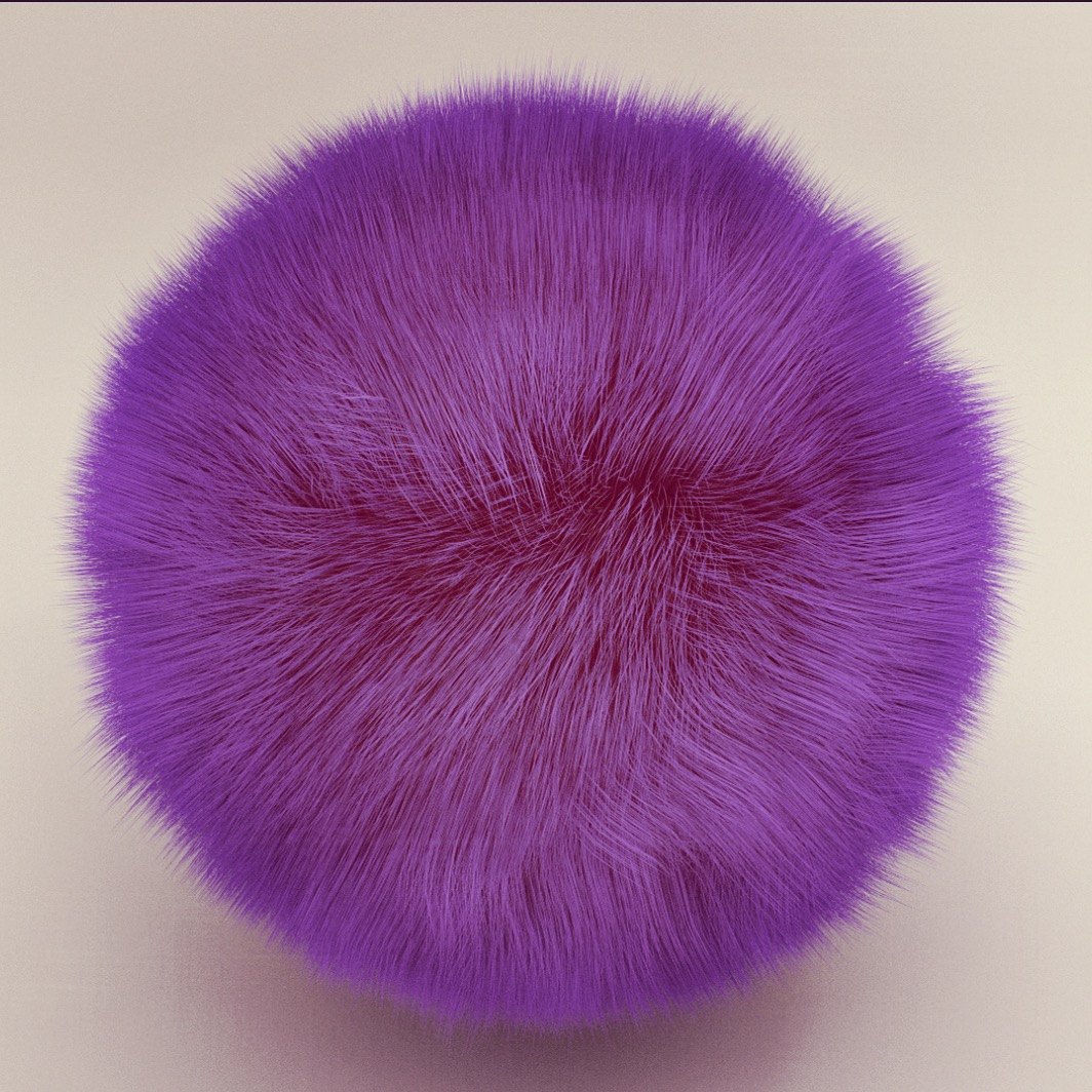 Furry Purple Ball