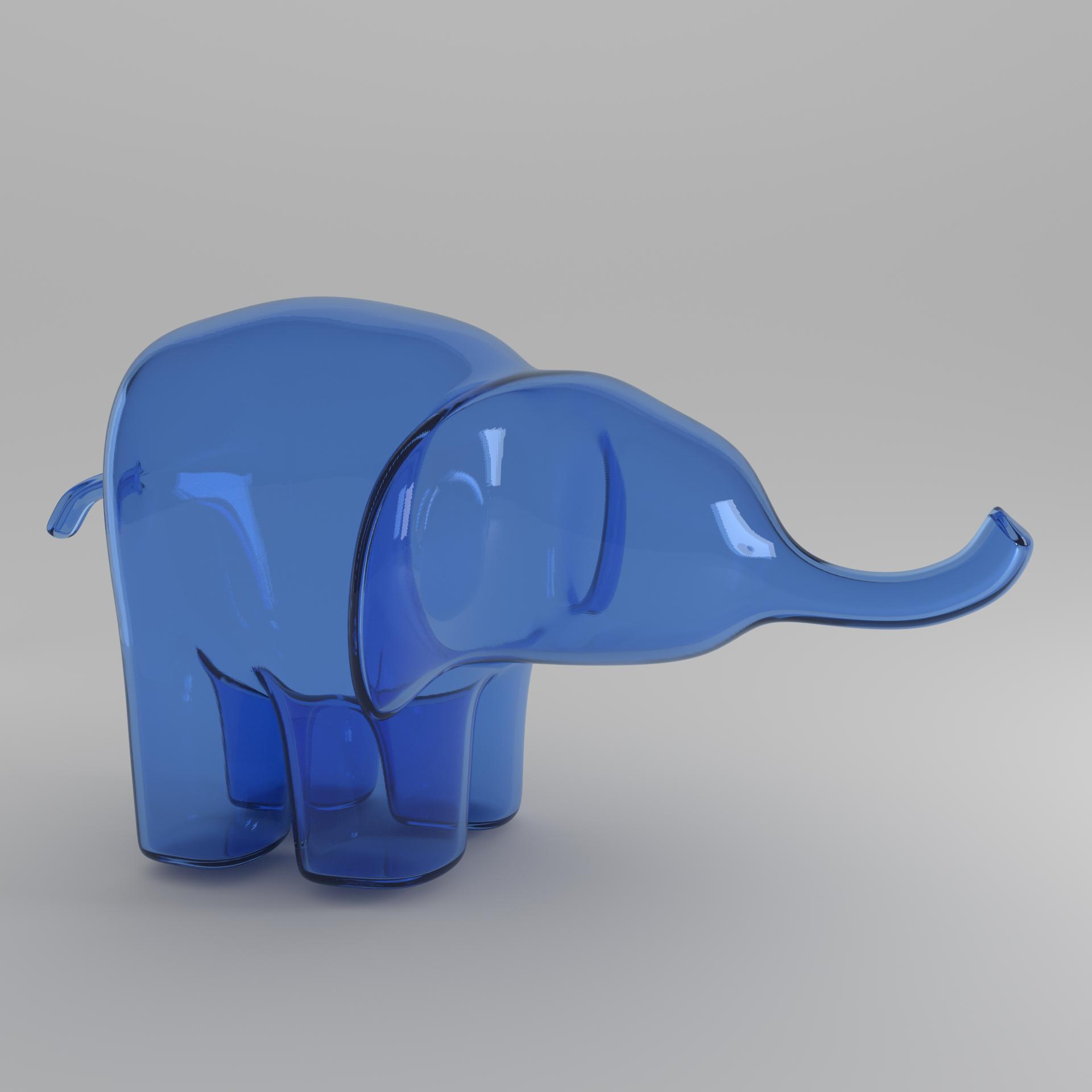 blue elephant square