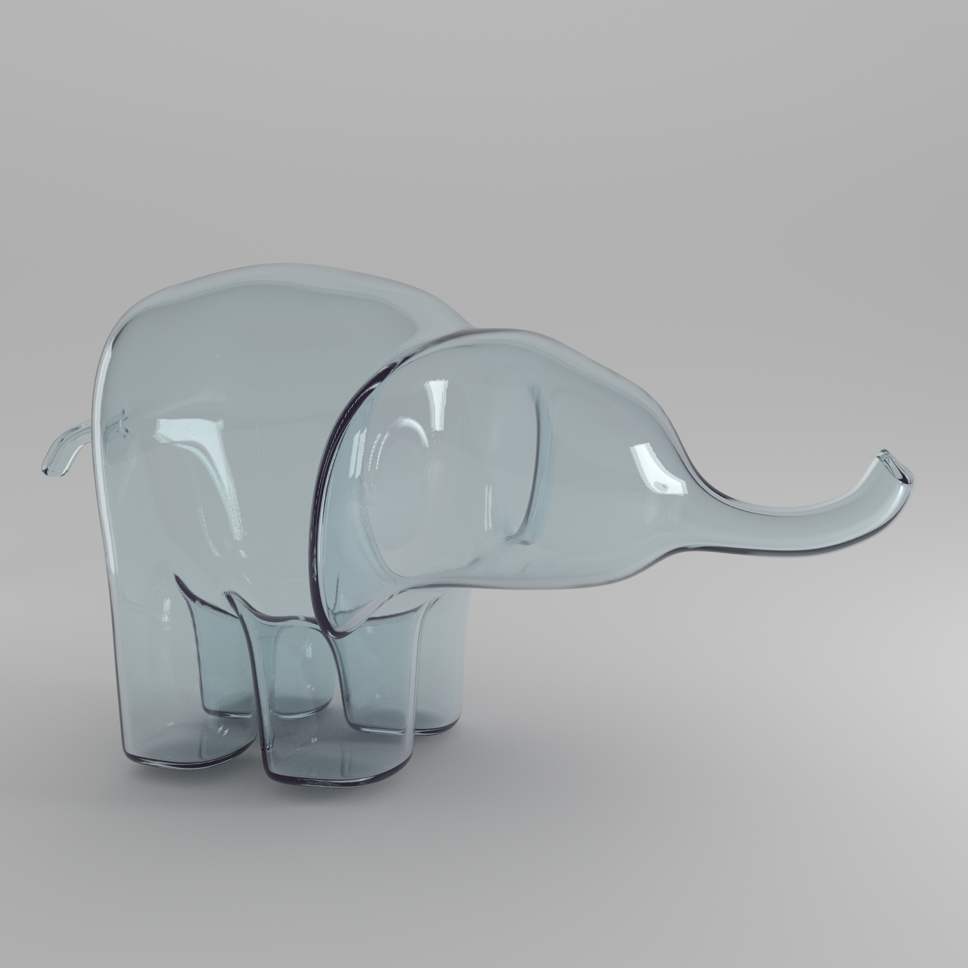 clear elephant square