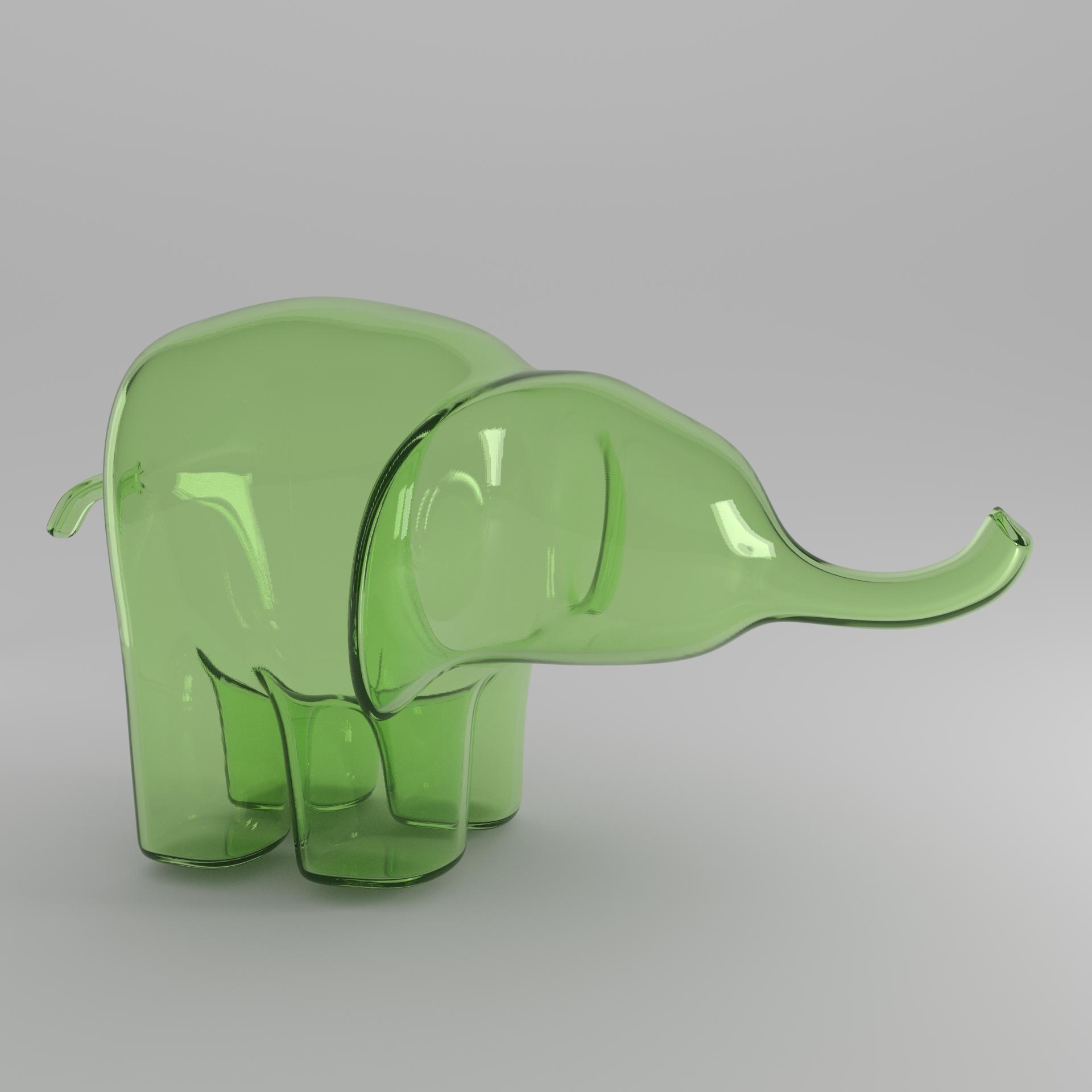 green elephant square
