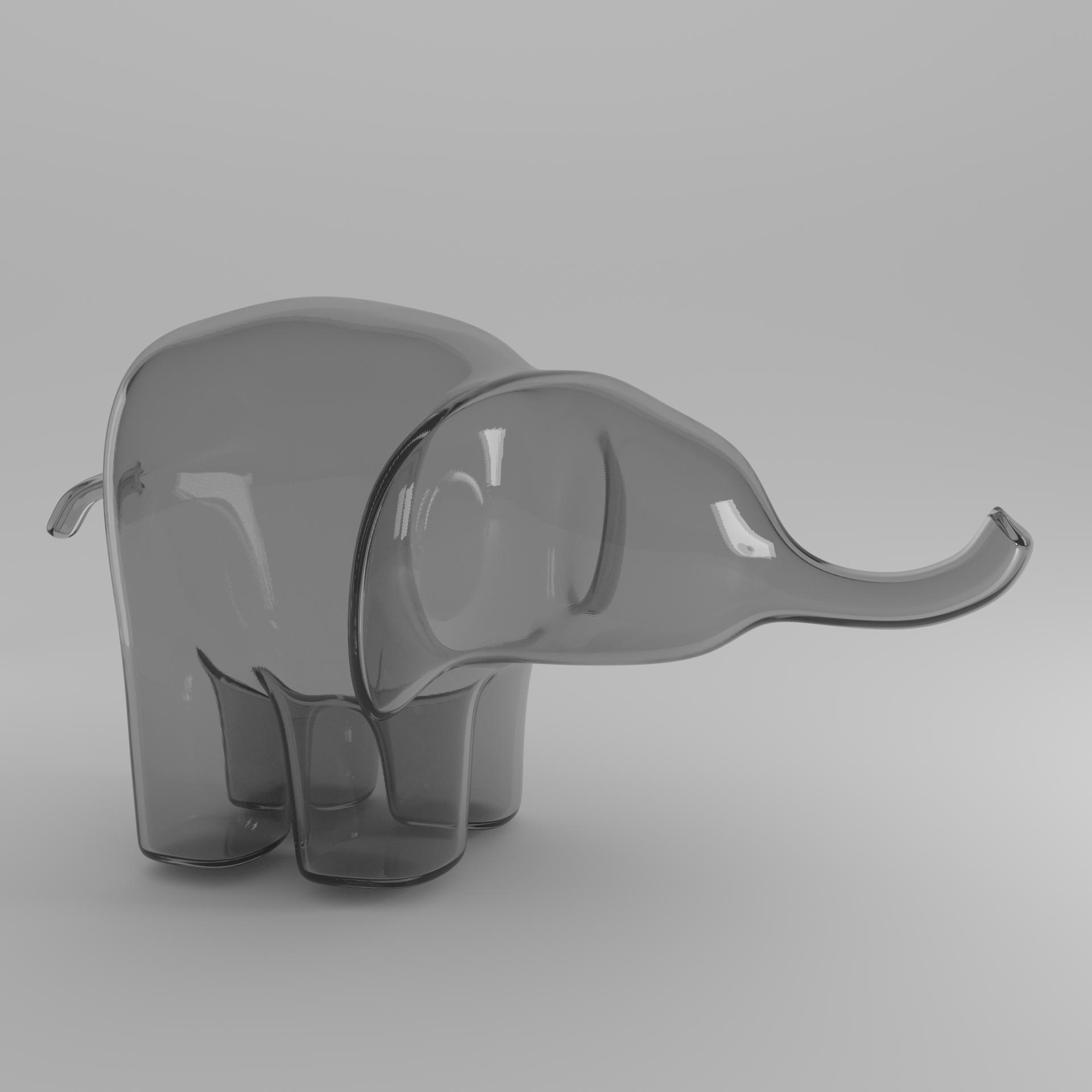grey elephant square