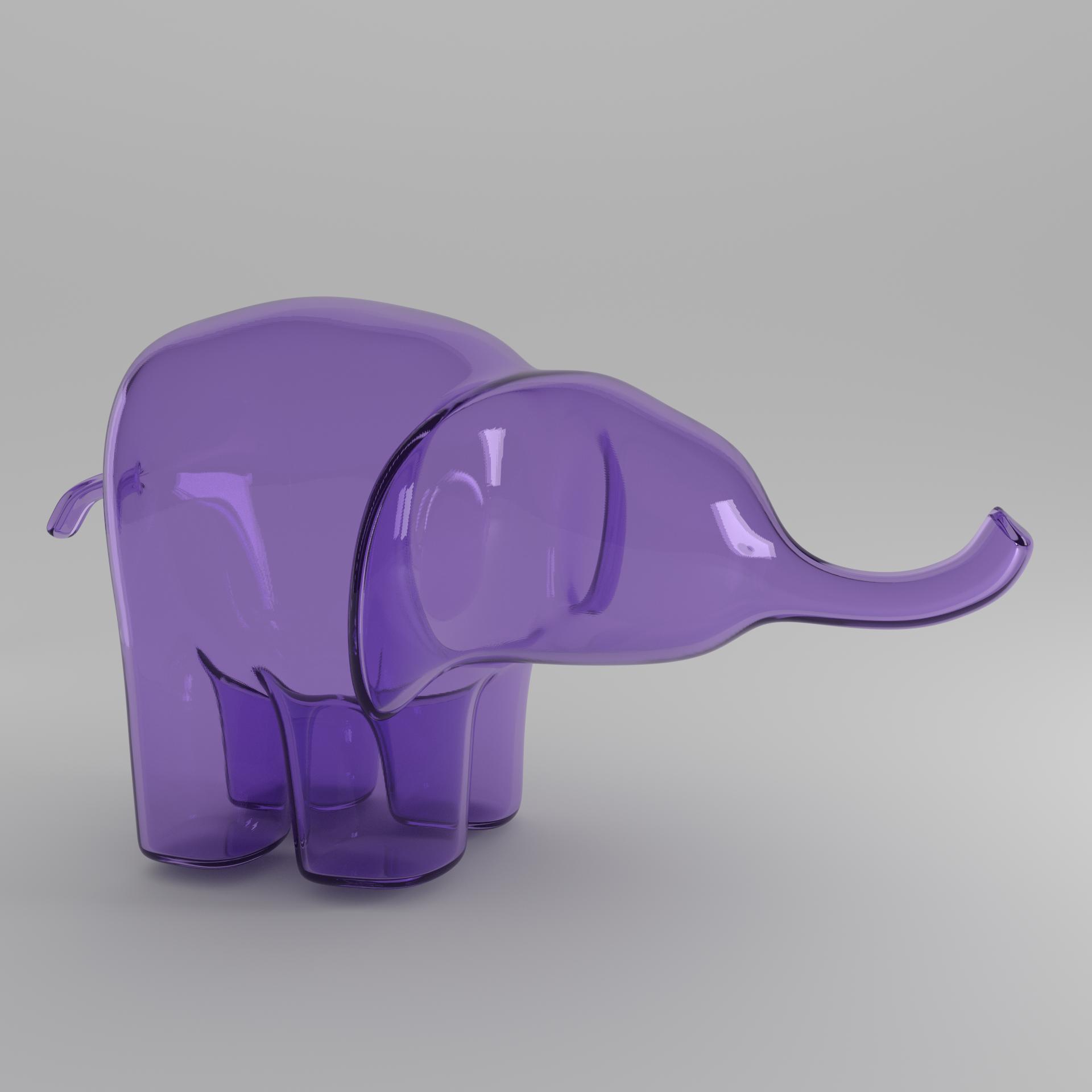 light purple elephant square