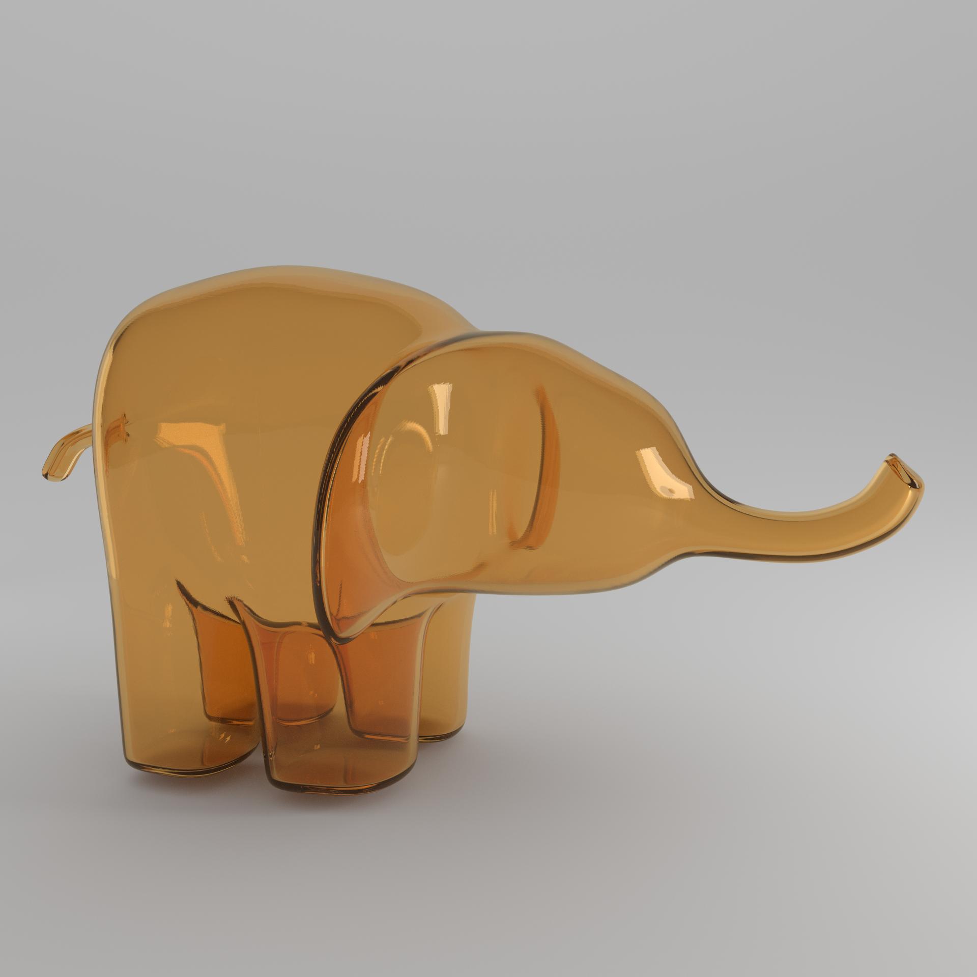 orange elephant square