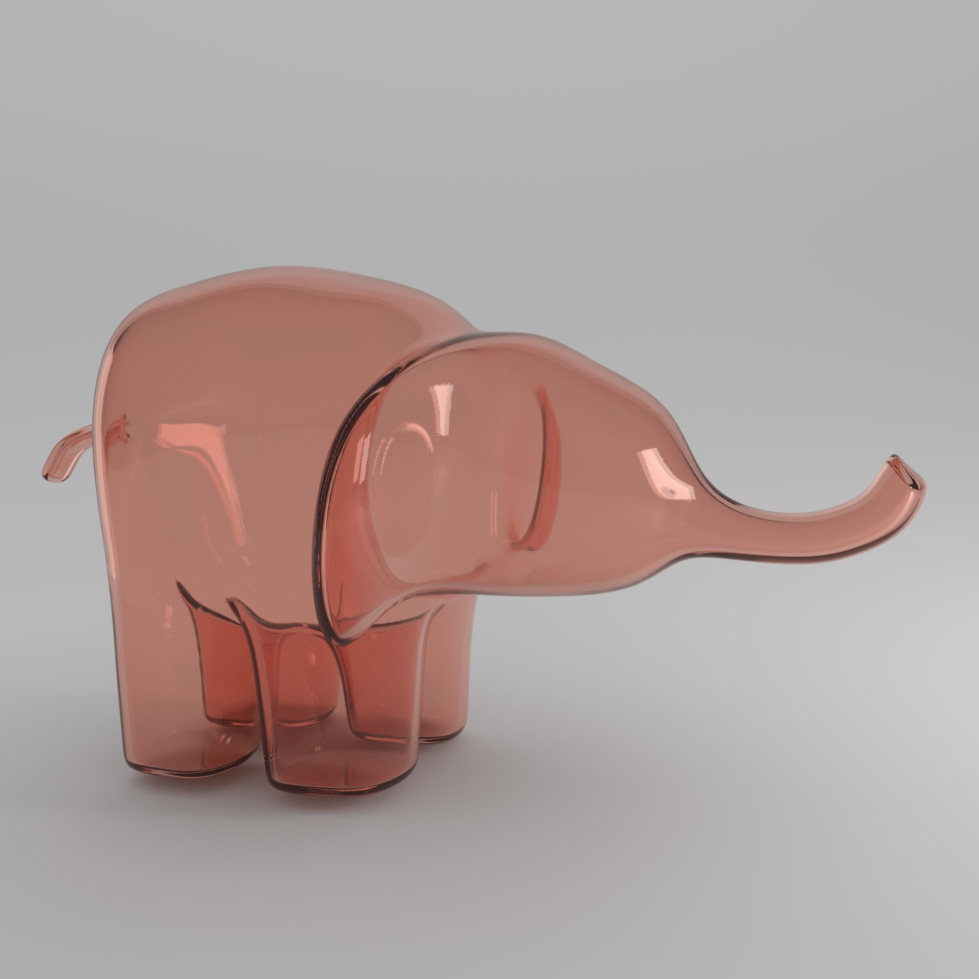 peach elephant square