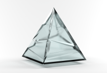 Blender 3D Glass Pyramid