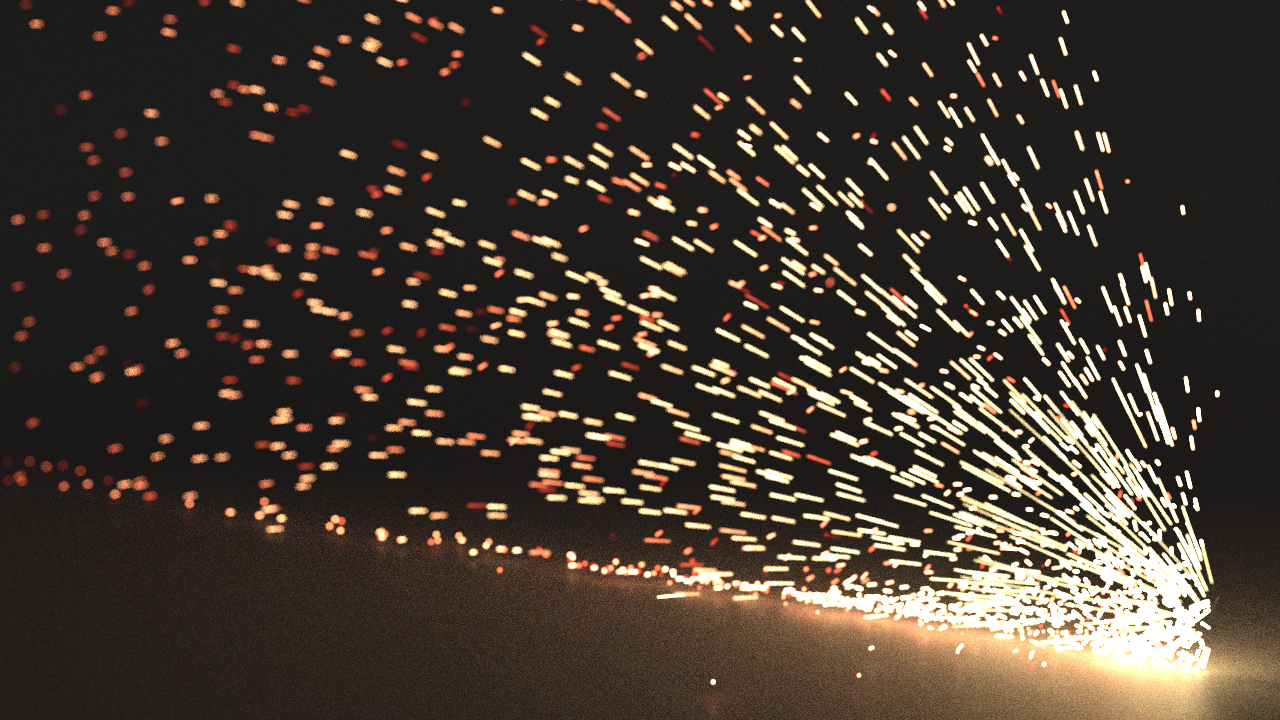 spark motion blur