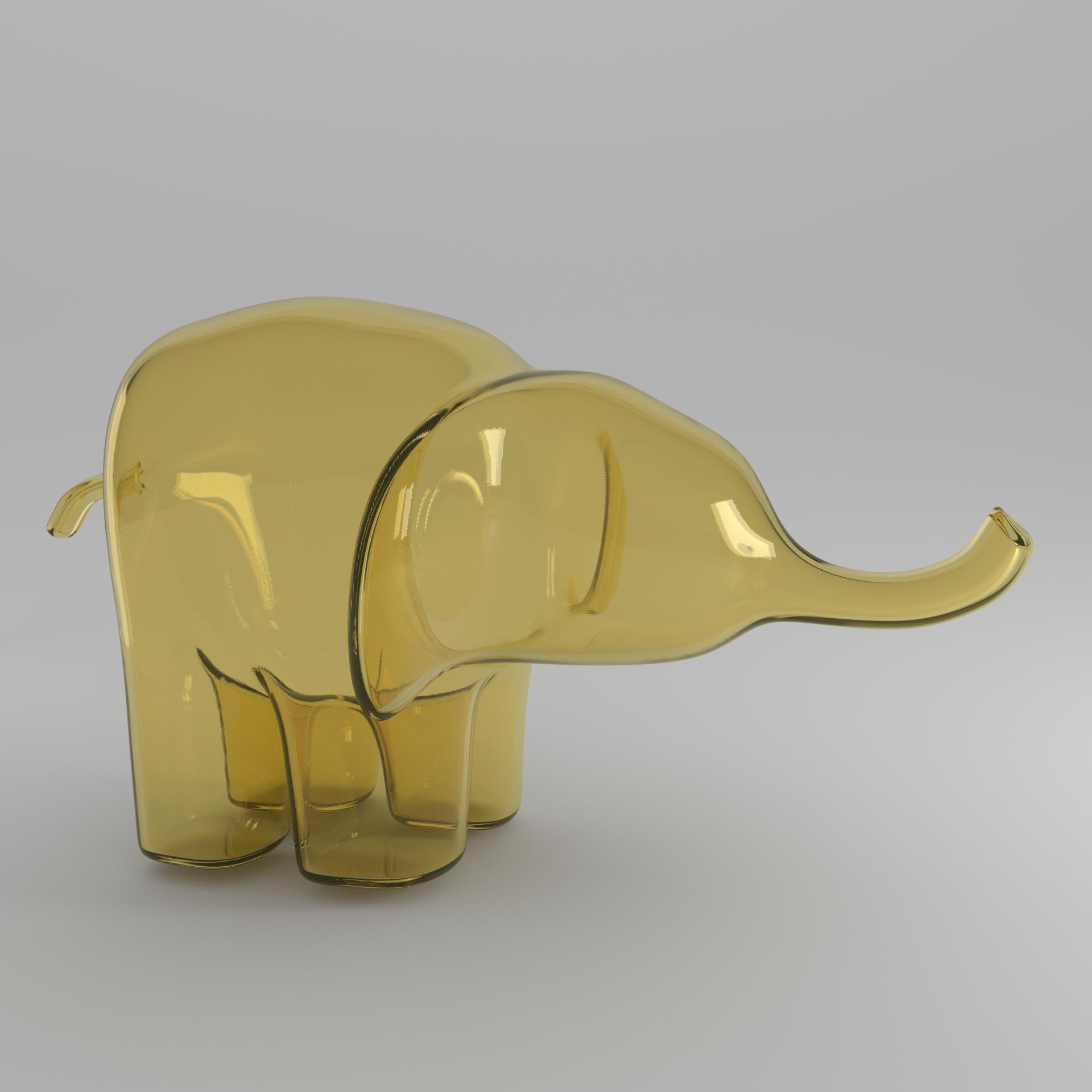yellow elephant square