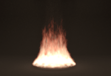 "Blender ""Fire"" test render"